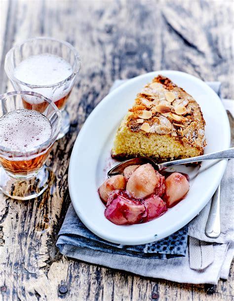 amande cuisine moelleux amande et pêches de vigne au balsamique pour 4