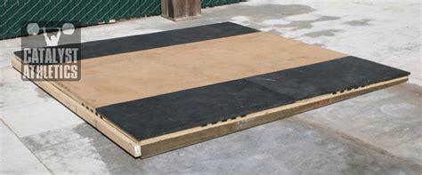building  lifting platform   slope  greg everett equipment catalyst athletics