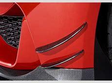 Carbon fibre canards for BMW M4 F82 F83