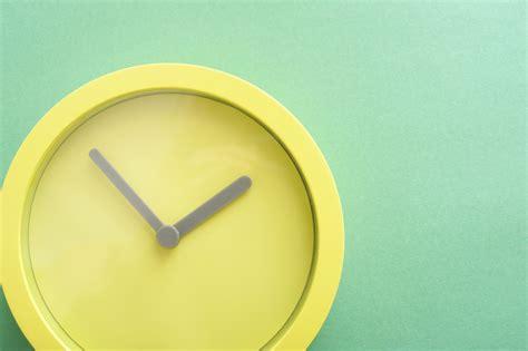 stock photo  modern  minimalist green clock