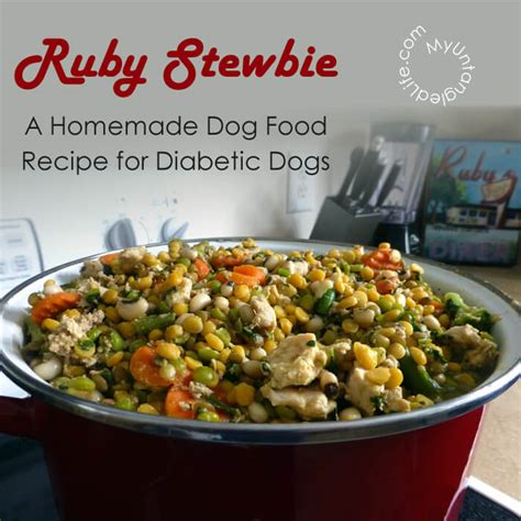 For dogs suffering from diabetics, there's some good news. Homemade Diabetic Dog Food Recipe - Ruby Stewbie