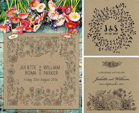 rustic wedding invitations paperchain wedding stationery