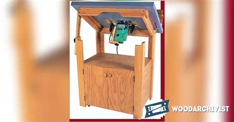 tilt top router table plans woodarchivist