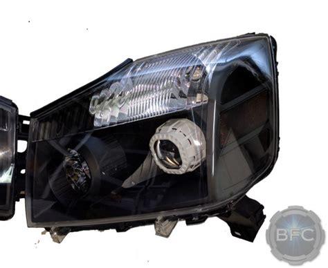 2014 nissan titan black white chrome hid projector
