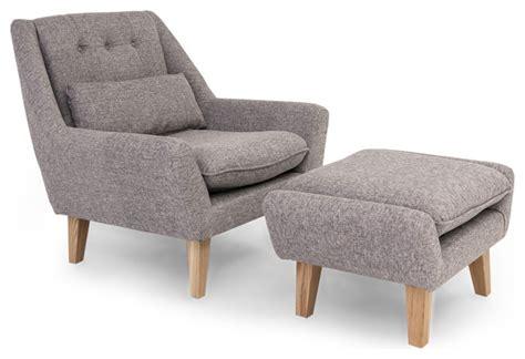 modern accent chair and ottoman kardiel stuart modern lounge chair and ottoman 2 piece