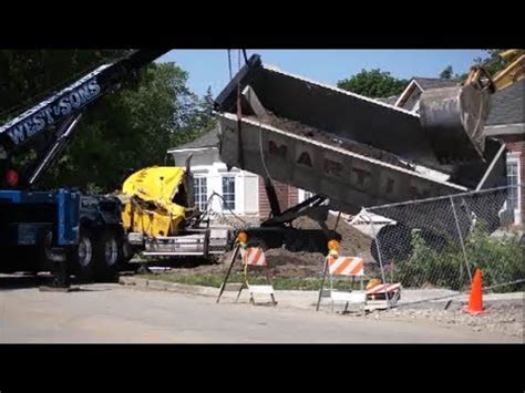 construction accident spring road raw clips youtube