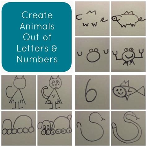 create animals   letters  numbers