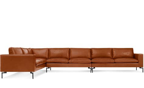 Large Leather Sofa by New Standard Large Sectional Leather Sofa Hivemodern