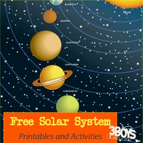 solar system printables  activities  boys