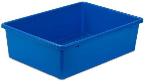 Large Blue Plastic Storage Bins #prt-srt1602-lgblu Plastic Model Ship Kits Uk Clear High Heels Red Mixing Bowls Dog Cone Petco Mulching 20 Inch Plant Pot Saucer Child S King Crown Dark Green Bottles