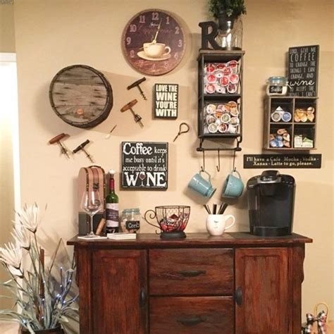 Check out our coffee and wine bar selection for the very best in unique or custom, handmade pieces from our signs shops. DIY Coffee Bar Ideas - Stunning Farmhouse Style Beverage Stations for Small Spaces and Tiny ...