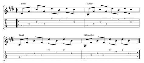 Music theory is a practice musicians use to understand and communicate the language of music. 4-Chords-Five-Ways-Example-2-Pop - Fundamental Changes Music Book Publishing
