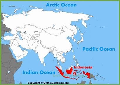 Indonesia Map Asia Location