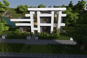 Modern Minecraft House Render