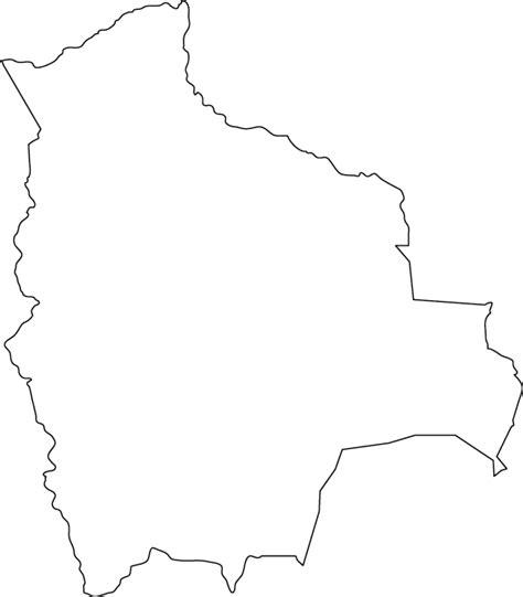 bolivia outline map