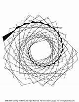 Coloring Abstract Spiral Mandala Printable Pattern Printables Library sketch template