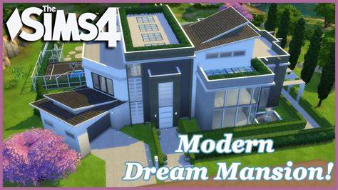 sims  modern dream mansion  house build youtube