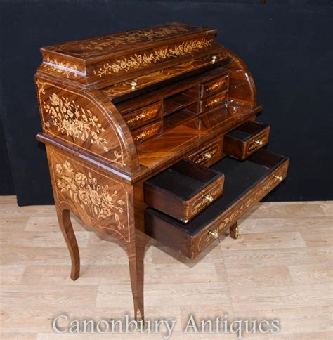 bureau louis 15 louis xv roll top desk bureau writing table inlay