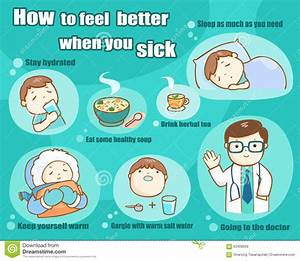 How To Feel Better When You Sick Stock Vector - Image ...