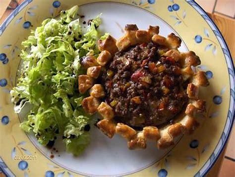 recette de tartelette de steak hach 233 tomate et poivron