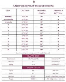 Pillowcase Dress Size Chart