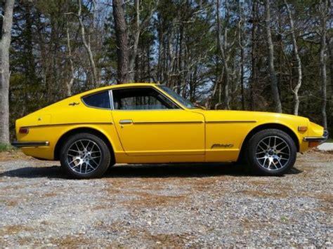 Black Datsun 240z by 1970 Nissan Datsun Yellow 240z Fairlady Black Leather