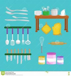 Kitchenware Icons Vector SetSteel Kitchen Household