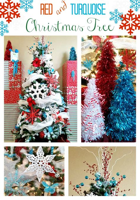 christmas tree decorating tips red turquoise  white