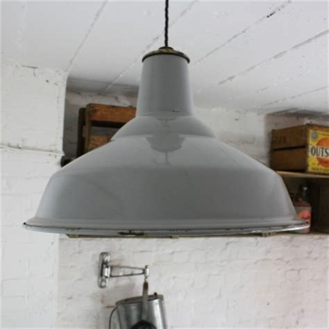 vintage grey enamel industrial pendant light lovely and