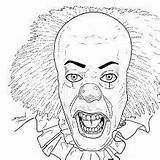 Coloring Pages Scary Horror Pennywise Halloween Sheets Printable Maniac Books Colouring Rocky Bing Clown Source Dragon Cool sketch template