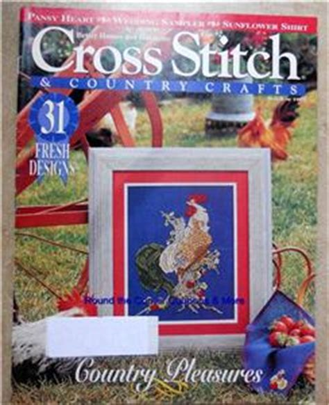 cross stitch country crafts back issue lot 3 magazine