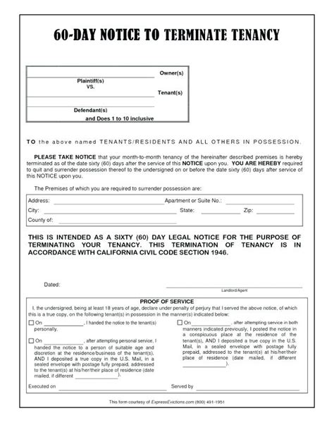 free oregon 60 day notice to vacate form x 60 day notice template to vacate form top result free