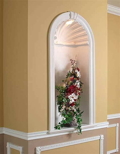 recessed wall niche with light favorite places spaces