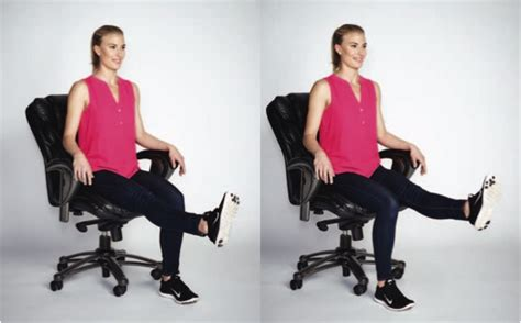 chair leg raises with medicine a workout at work it can be done with these 7 exercises