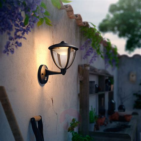 philips robin led outdoor wall light black up lights ie
