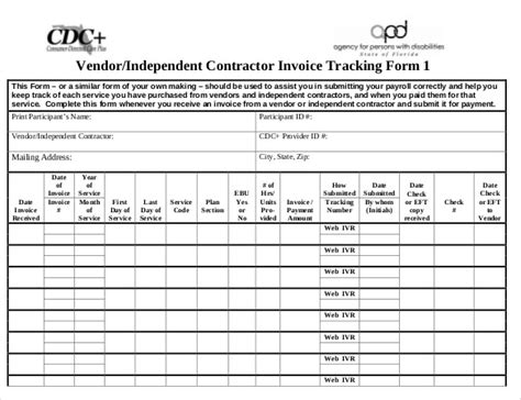 Contractor Paysheet Template Excel by 8 Invoice Tracking Templates Free Sle Exle