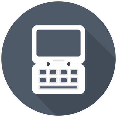 laptop icon  flat multimedia iconset designbolts