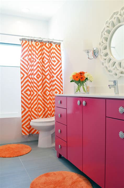 orange and gray bathroom ideas colorful bathroom ideas betterdecoratingbible