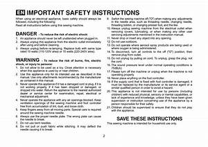 Important Safety Instructions  Danger Save These
