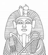 Coloring Egyptian Pages Egypt Sarcophagus Pharaoh Mummy King Coffin Statue Ramses Drawing Ii Gold Tut Tutankhamun Children Body Tutankhamen Theme sketch template