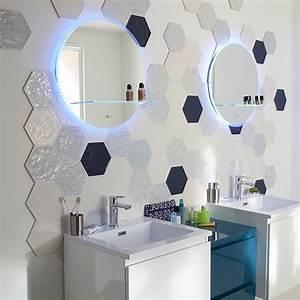 Carrelage Mural Hexagonal : carrelage mural hexagonal 17 5 x 20 cm d cor makara castorama sol pinterest decor and murals ~ Carolinahurricanesstore.com Idées de Décoration