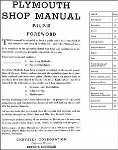1941 Plymouth Repair Shop Manual Original