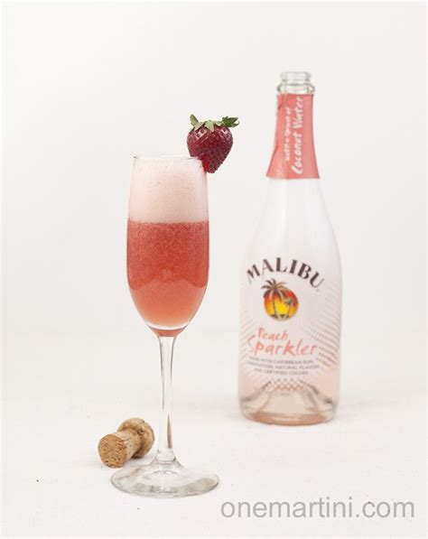 Discover your new cocktail with malibu rum. malibu peach sparkler cocktail | Fun drinks alcohol ...