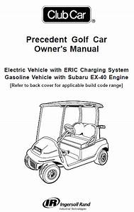 2017 Club Car Precedent Parts Manual