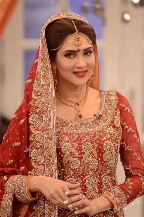 fiza ali  bridal dresses  good morning pakistan