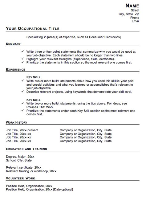 Functional Resume Template Why Not To Use A Functional Resume Format Susan Ireland