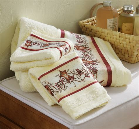 hearts and kitchen collection hearts and country bath towel set ebay