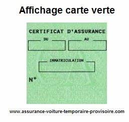 Arreter Une Assurance Voiture : affichage carte verte assurance auto provisoire ~ Gottalentnigeria.com Avis de Voitures