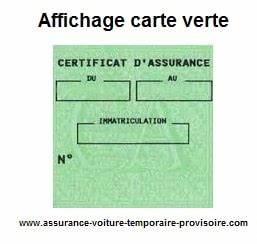 Carte Verte Assurance : affichage carte verte assurance auto provisoire ~ Gottalentnigeria.com Avis de Voitures