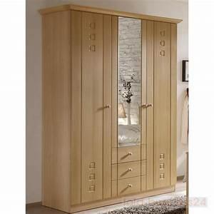 Kleiderschrank Ohne Türen : schrank schlafzimmer kleiderschrank 3 t ren buche dekor ebay ~ Frokenaadalensverden.com Haus und Dekorationen